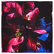 Buy Ted Baker Islay Impressionist Square Silk Scarf, Black Online at johnlewis.com