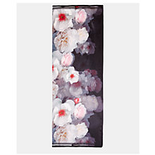 Buy Ted Baker Chleo Long Silk Scarf, Black Online at johnlewis.com