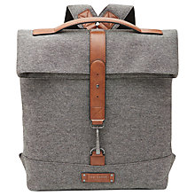 Buy Ted Baker Germyn Canvas Roll Backpack, Grey Online at johnlewis.com