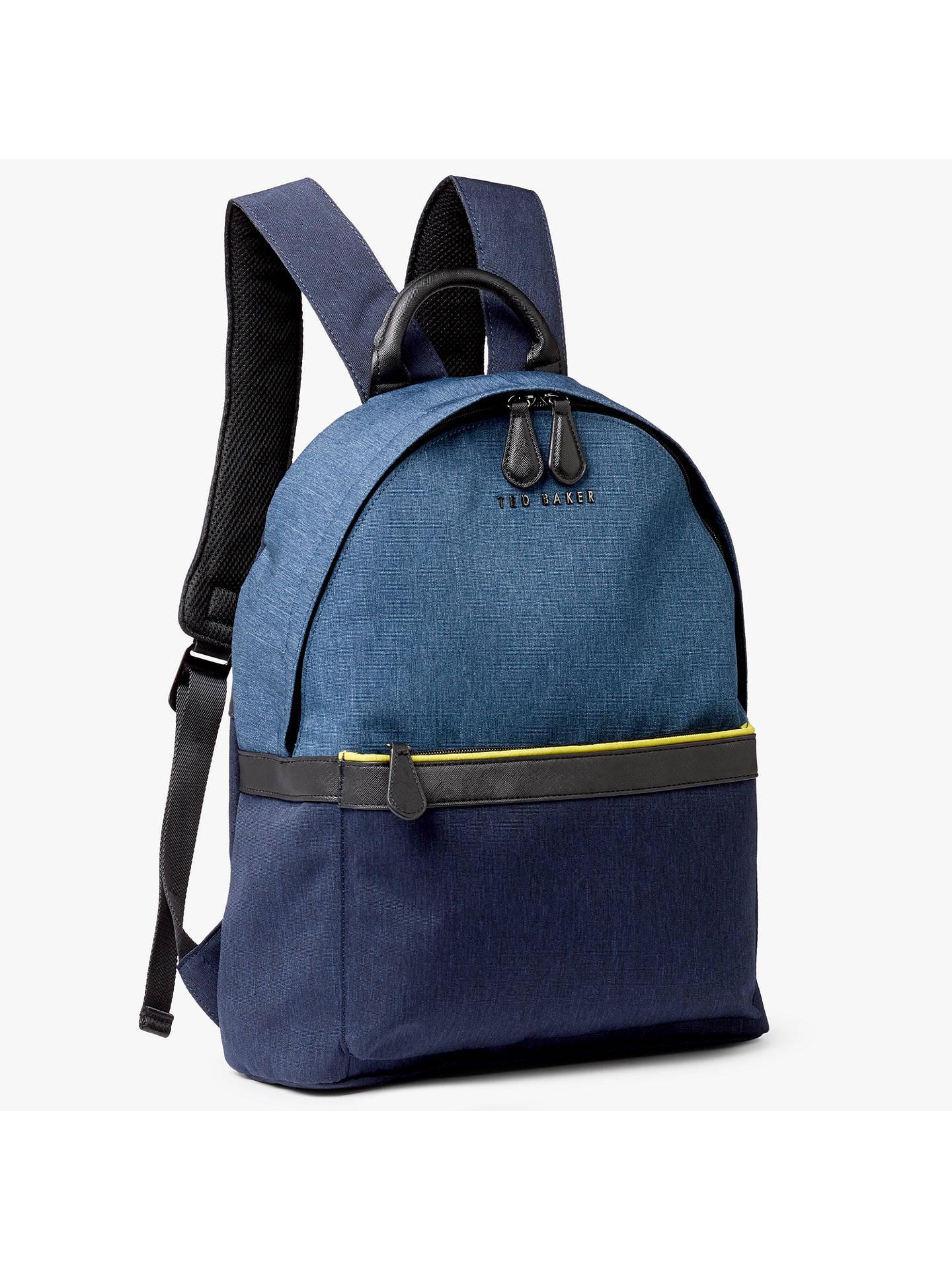 971d5b2ebe Ted Baker Zirabi Contrast Trim Backpack at John Lewis & Partners