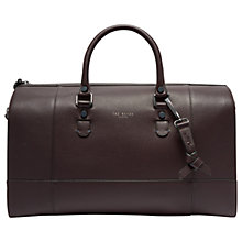 Buy Ted Baker Panthea Leather Holdall, Purple Online at johnlewis.com