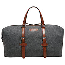 Buy Ted Baker Tailor Canvas Holdall, Grey Online at johnlewis.com