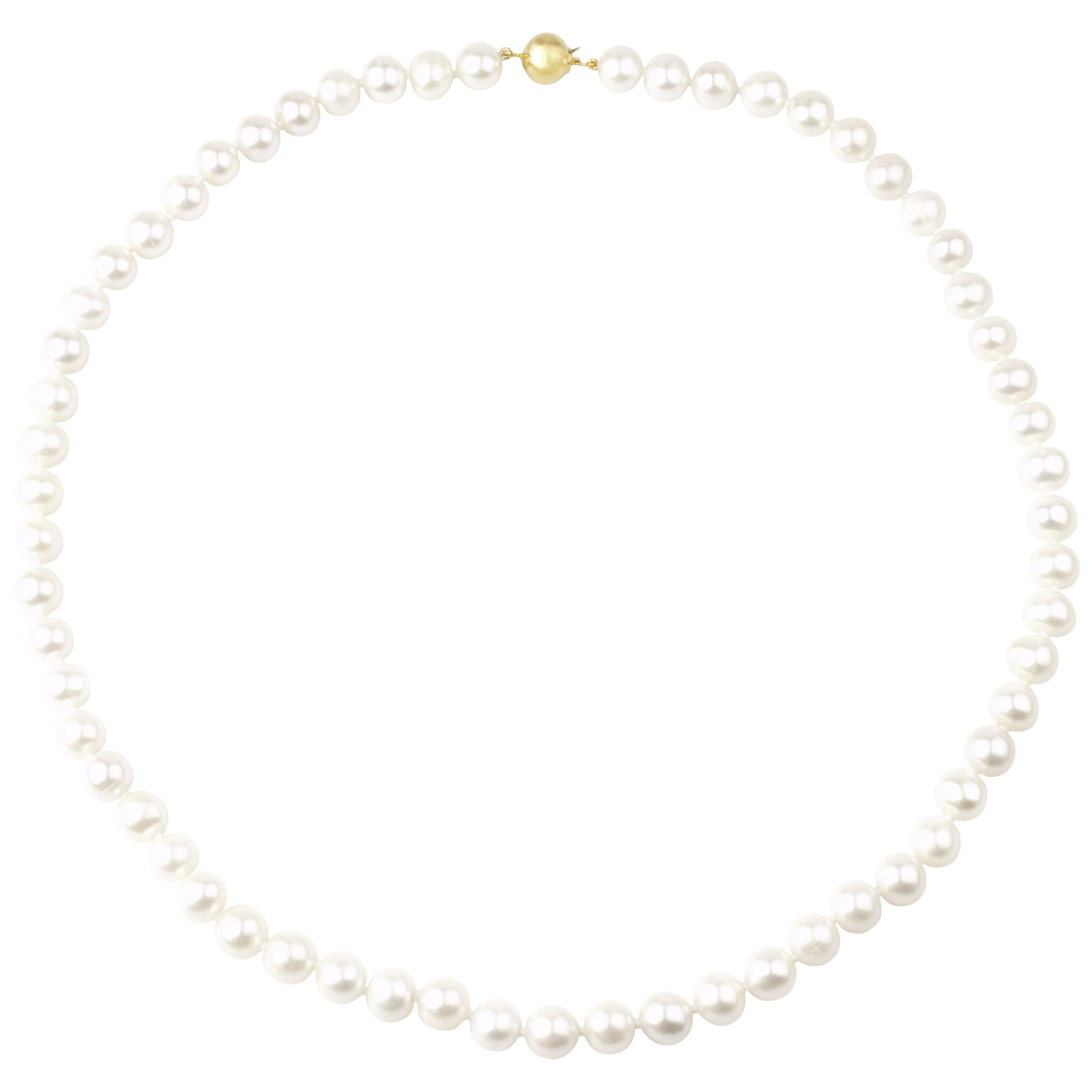 A B Davis A B Davis 18ct Gold Cultured Pearl Necklace, White