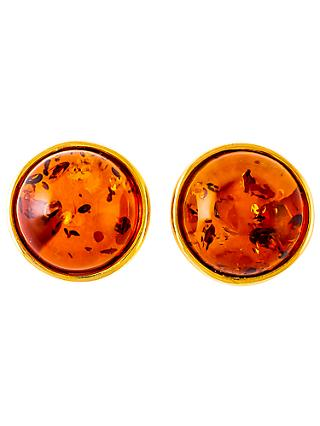 Be-Jewelled Amber Round Stud Earrings