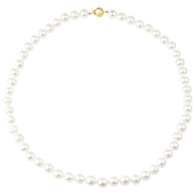 Product photo of A b davis 9ct gold freshwater pearl necklace white