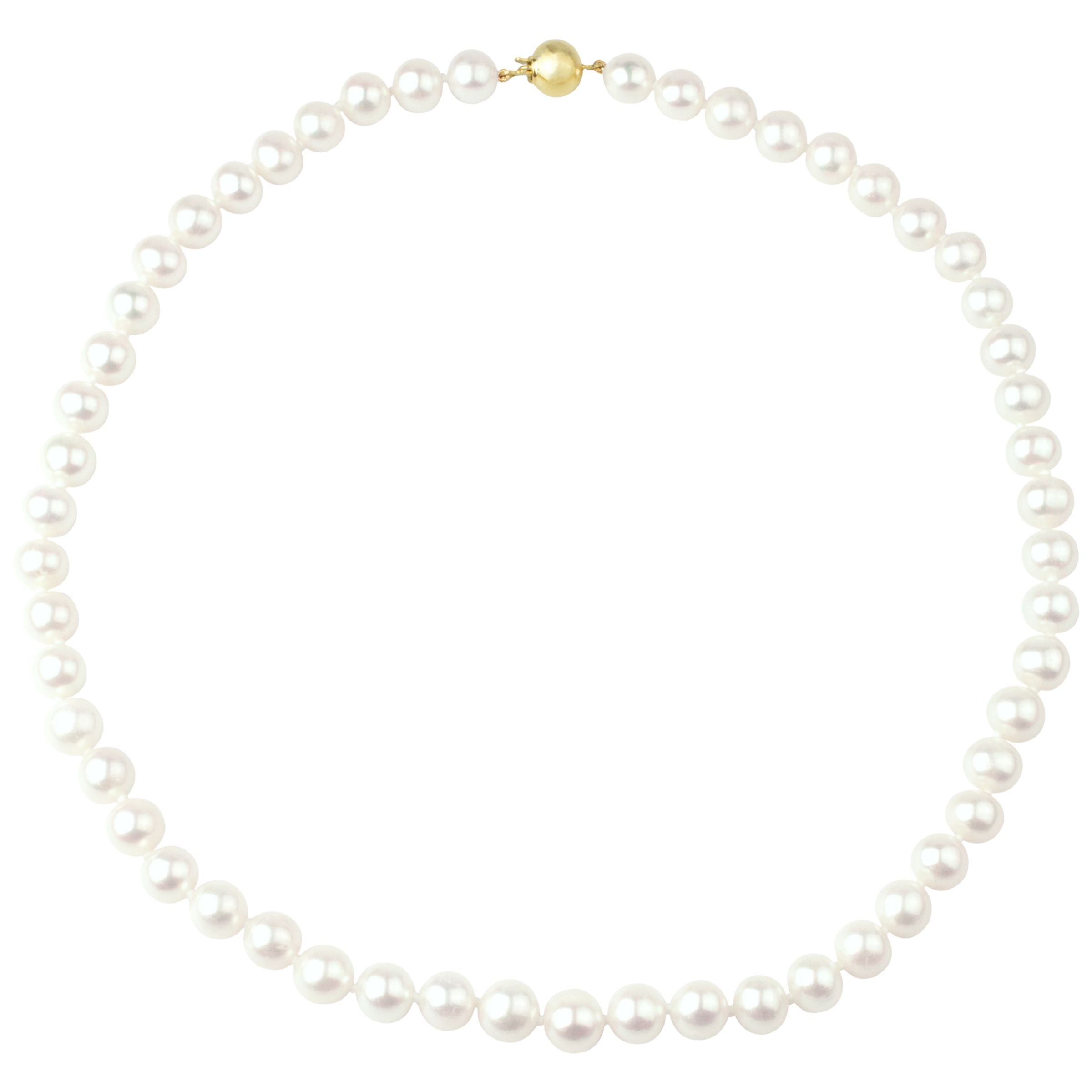 A B Davis A B Davis 9ct Gold Freshwater Pearl Necklace, White