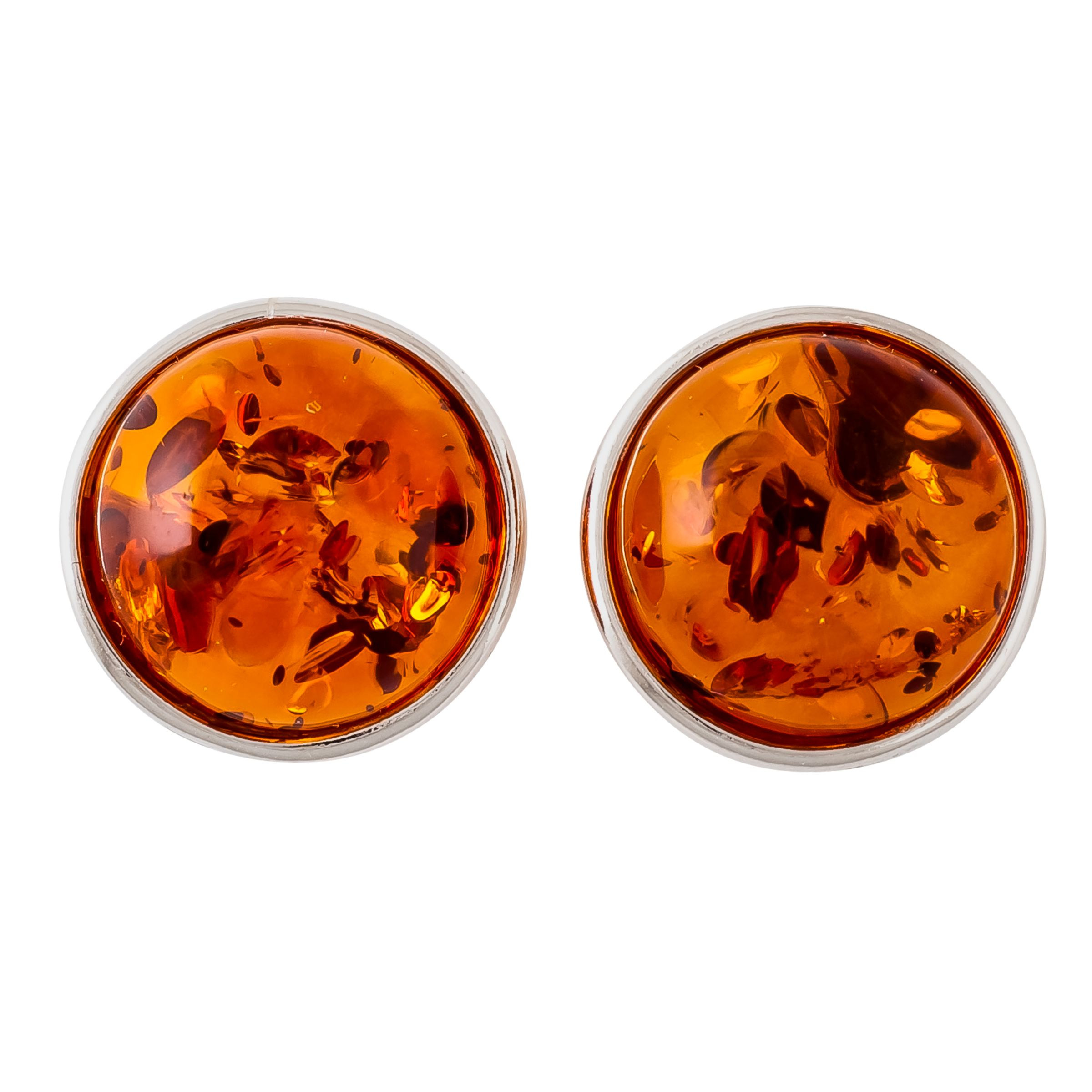 Be-Jewelled Be-Jewelled Amber Round Stud Earrings