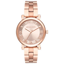 Buy Michael Kors MK3561 Women's Norie Bracelet Strap Watch, Rose Gold Online at johnlewis.com