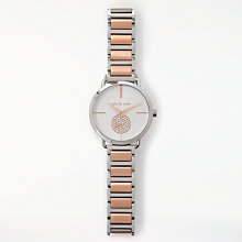 Buy Michael Kors Mk3709 Women's Portia Bracelet Strap Watch, Silver/Rose Gold Online at johnlewis.com