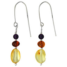 Buy Goldmajor Sterling Silver Amber And Amethyst Drop Earrings, Multi Online at johnlewis.com