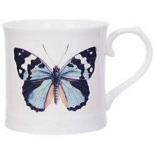 Buy Magpie Curios Butterfly Mug, White/Multi, 378ml Online at johnlewis.com