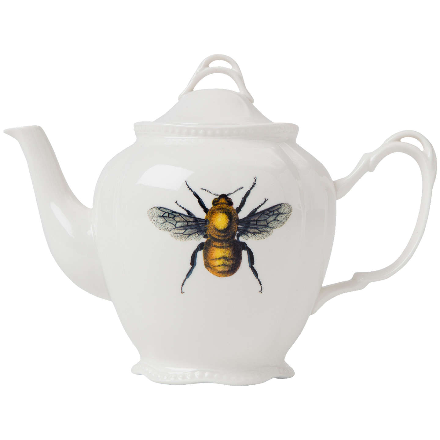 Buymagpie Curios Bee Teapot, Whitemulti, 921Ml Online At Johnlewiscom