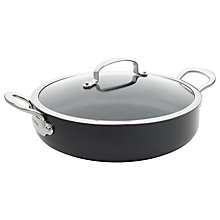 Buy GreenPan Barcelona Non-Stick Shallow Casserole With Lid, Dia.30cm Online at johnlewis.com