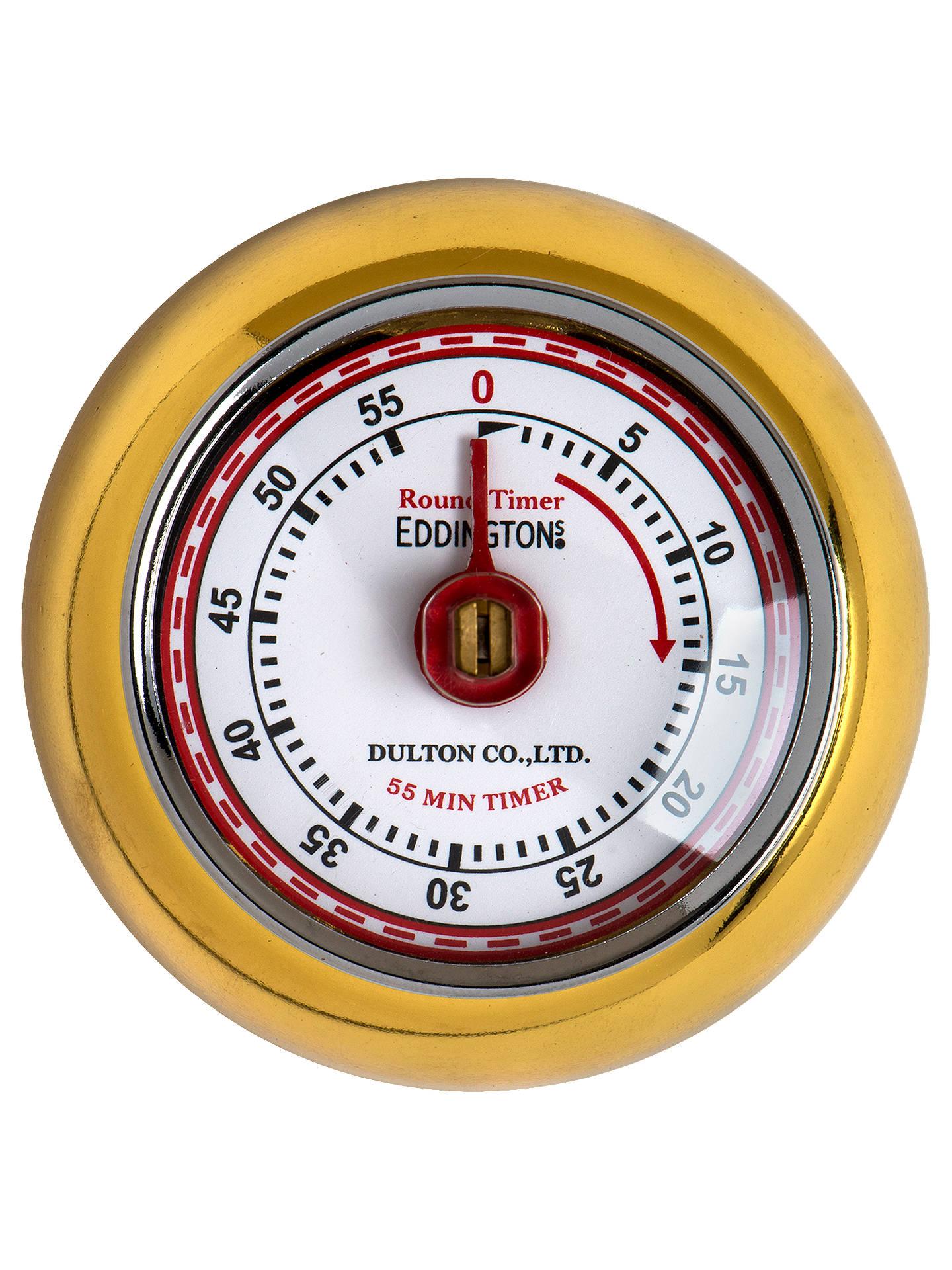 Eddingtons Retro Kitchen Timer Gold at John Lewis & Partners