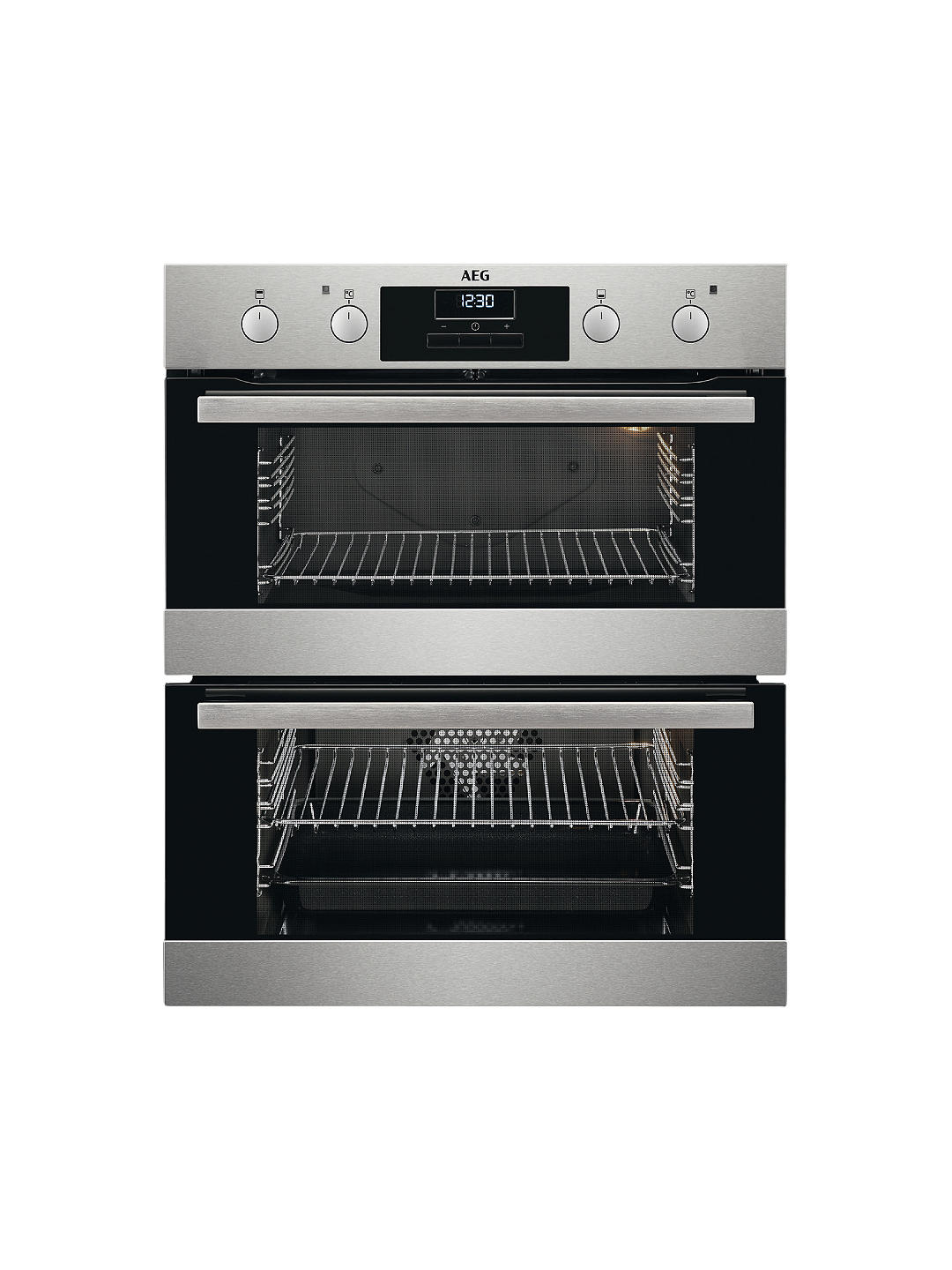 Buy AEG DUB331110M Built-Under Multifunction Double Electric Oven, Stainless Steel Online at johnlewis.com