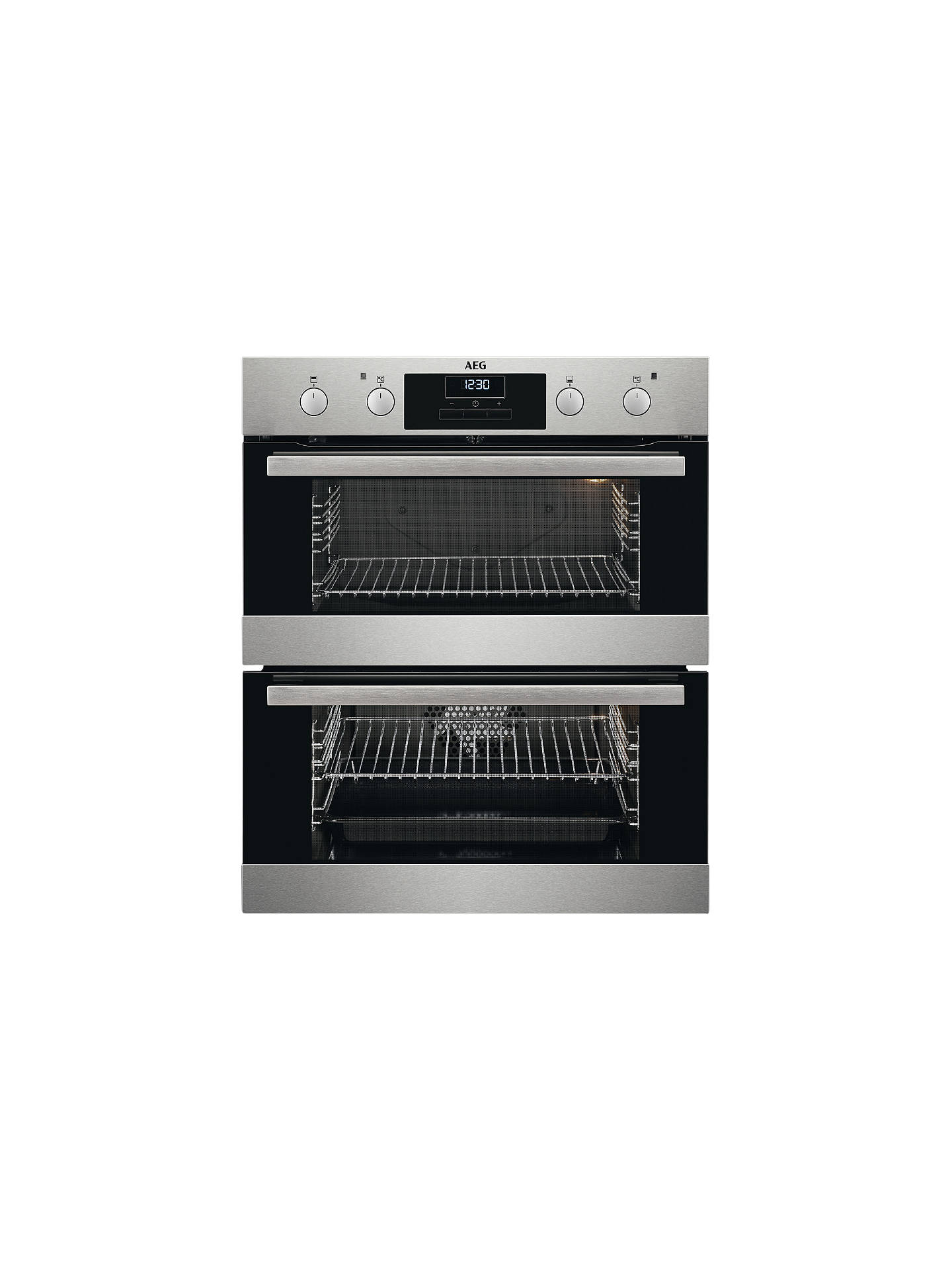BuyAEG DUB331110M Built-Under Multifunction Double Electric Oven, Stainless Steel Online at johnlewis.com