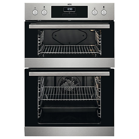 Medium image of buy aeg deb331010m built in multifunction double oven stainless steel online at johnlewis