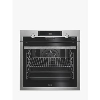AEG BPS551020M Built-In Multifunction Oven, Stainless Steel