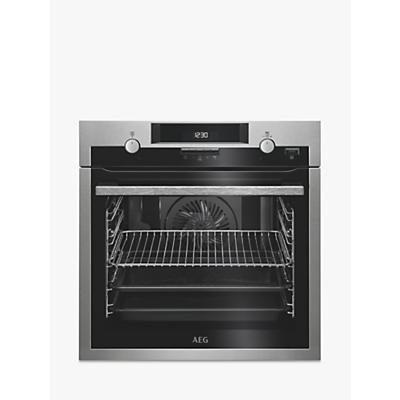 AEG BPS551020M Built-In Multifunction Oven, Stainless Steel