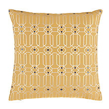 Buy Genevieve Bennett for John Lewis Fretwork Cushion, Saffron Online at johnlewis.com