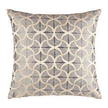 Buy Genevieve Bennett for John Lewis Deco Palm Cushion, Blue Online at johnlewis.com
