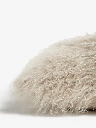 Buy John Lewis & Partners Mongolian Sheepskin Cushion, Natural Online at johnlewis.com
