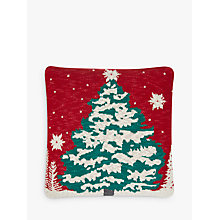 Buy John Lewis Knitted Christmas Tree Cushion, Multi Online at johnlewis.com