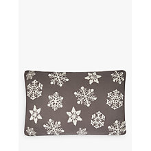 Buy John Lewis Knitted Snowflake Cushion, Storm Online at johnlewis.com