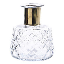 Buy John Lewis Boutique Hotel Vase With Gold Neck, Clear Online at johnlewis.com