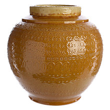 Buy John Lewis Fusion Ochre Patterned Urn, Yellow Online at johnlewis.com