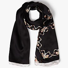 Buy Ted Baker Querdia Queen Bee Long Silk Scarf, Black Online at johnlewis.com