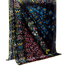 Buy Ted Baker Unity Floral Long Silk Scarf, Black Online at johnlewis.com