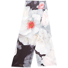 Buy Ted Baker Chelsea Skinny Silk Scarf, Black Online at johnlewis.com