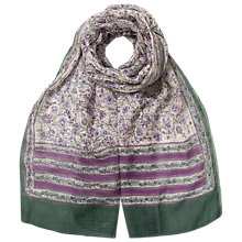 Buy East Kavita Print Scarf, Lavender Online at johnlewis.com