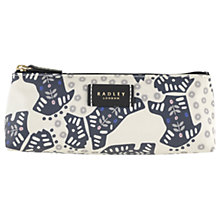 Buy Radley Folk Dog Fabric Small Pouch Bag, Ivory Online at johnlewis.com