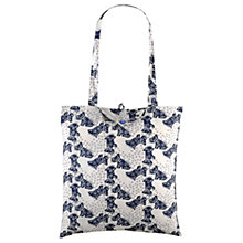 Buy Radley Folk Dog Fabric Folding Tote Bag, Ivory Online at johnlewis.com