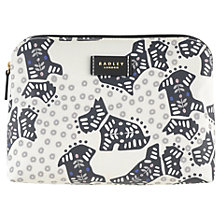 Buy Radley Folk Dog Fabric Medium Pouch Bag, Ivory Online at johnlewis.com