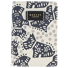 Buy Radley Folk Dog Fabric Passport Cover, Ivory Online at johnlewis.com