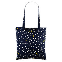 Buy Radley Vintage Dog Dot Fabric Tote Bag, Navy Online at johnlewis.com