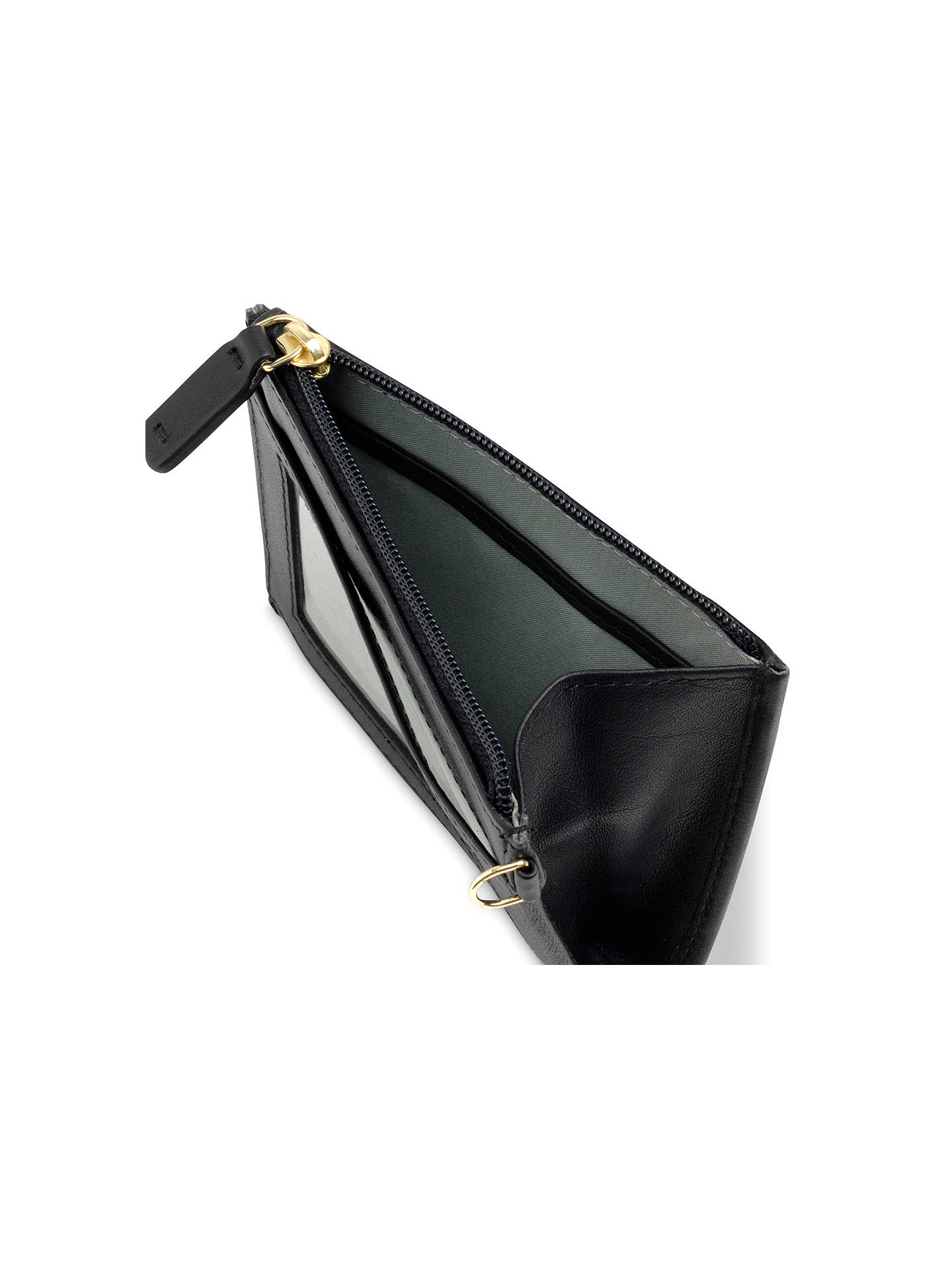 BuyRadley Pockets Leather Small Coin Purse, Black Online at johnlewis.com