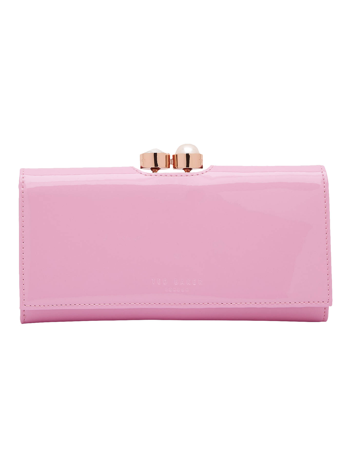 5010059d4ec Buy Ted Baker Cecilie Pearl Leather Matinee Purse, Pale Pink Online at  johnlewis.com ...
