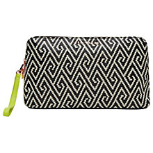 Buy Ted Baker Mallika Geo Large Wash Bag, Black Online at johnlewis.com