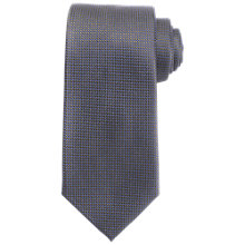 Buy John Lewis Semi Plain Silk Tie, Grey/Blue Online at johnlewis.com