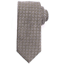 Buy John Lewis Circle Dot Wool Silk Tie, Grey Online at johnlewis.com