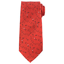 Buy John Lewis Hare Print Woven Silk Tie, Red Online at johnlewis.com