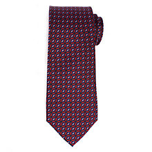 Buy John Lewis Fine Link Print Silk Tie, Navy/Burgundy Online at johnlewis.com