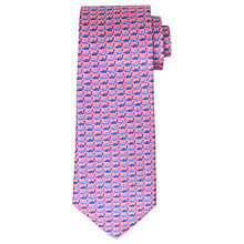 Buy John Lewis Dinosaur Print Woven Silk Tie, Pink/Blue Online at johnlewis.com