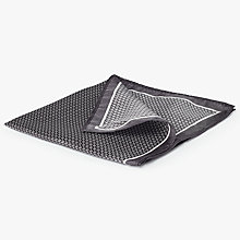 Buy John Lewis Quad Dot Silk Pocket Square, Grey Online at johnlewis.com
