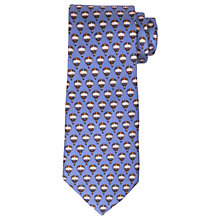 Buy John Lewis Hot Air Balloons Print Woven Silk Tie, Blue/Pink Online at johnlewis.com