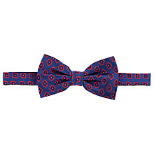 Buy John Lewis Motif Bow Tie, Navy/Red Online at johnlewis.com